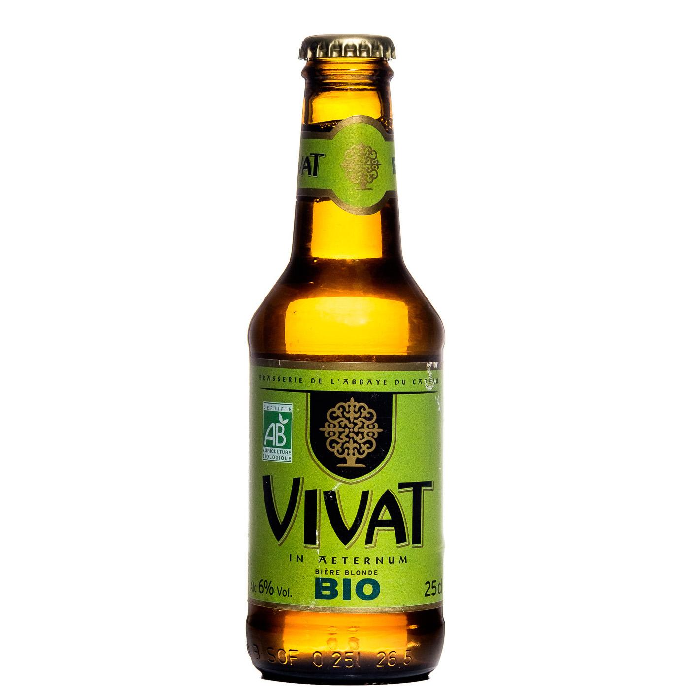 Bière Vivat Blonde BIO - Brasserie Abbaye du Cateau