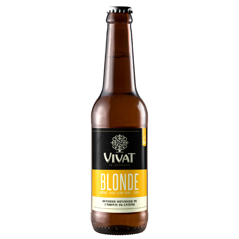 Bière Vivat Blonde - Brasserie Abbaye du Cateau
