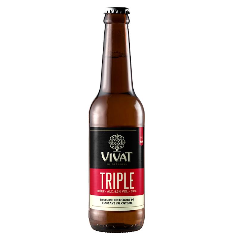 Bière Vivat Triple - Brasserie Abbaye du Cateau