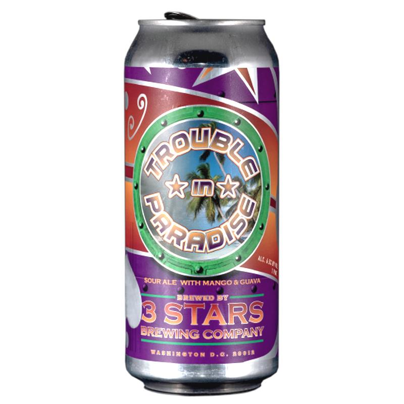 Bière Trouble in Paradise - Brasserie 3 Stars Brewing