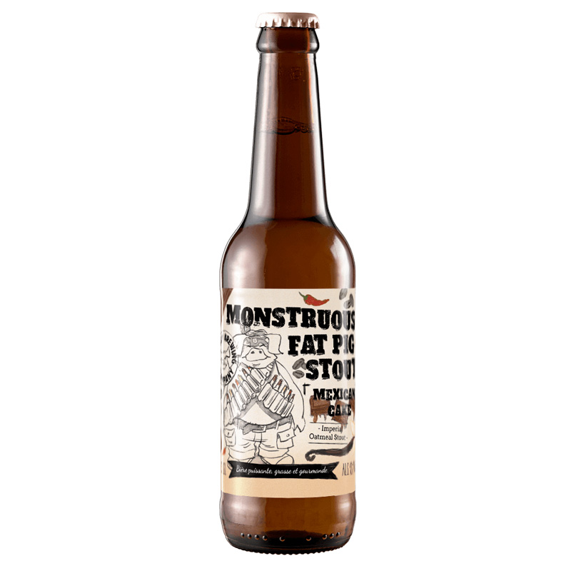 Bière Monstruous Fat Pig Stout Mexican Cake Edition - Brasserie Piggy Brewing