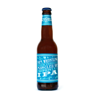 Arm Wrestling Bench Pressing Muscled Up  - Flying Dutchman brewing Company - Une Petite Mousse