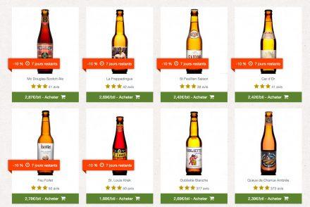 10% de réductions sur les bières du coffret d'avril