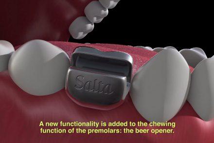 Salta présente la première prothèse dentaire à ouvrir des bières