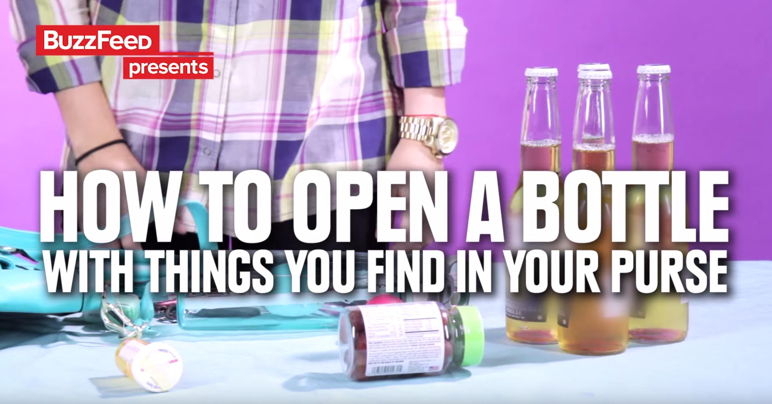 11 manières d'ouvrir une bière avec le contenu d'un sac à main