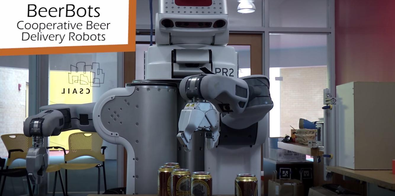 Le MIT teste des robots à bière collaboratifs