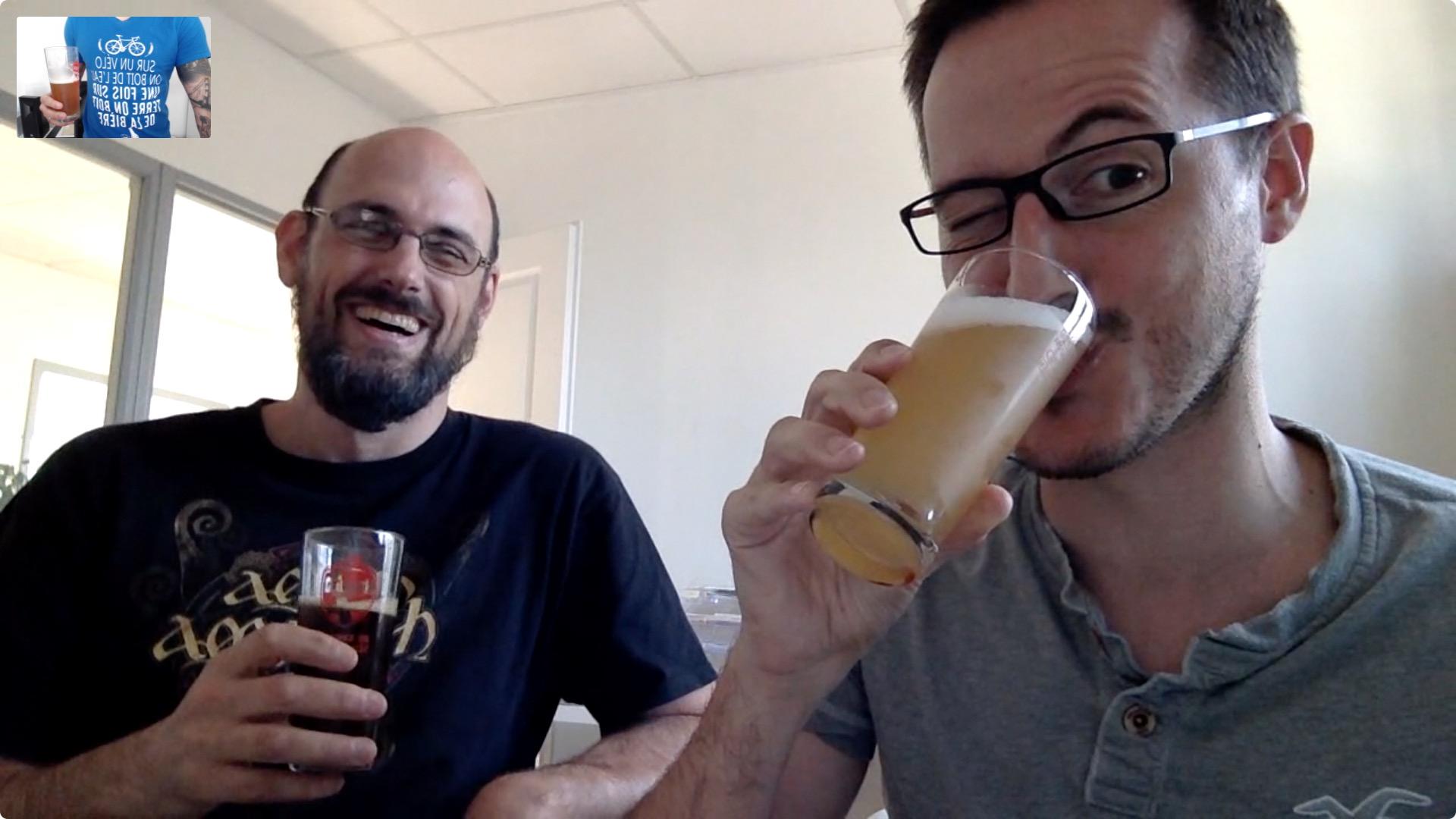 La bière du vendredi, au bureau d'Une Petite Mousse