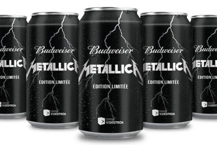 Budweiser sort une bière Metallica au Québec
