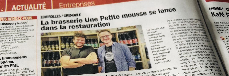 Notre premier bar à Grenoble va ouvrir : venez boire des petites mousses à la source !