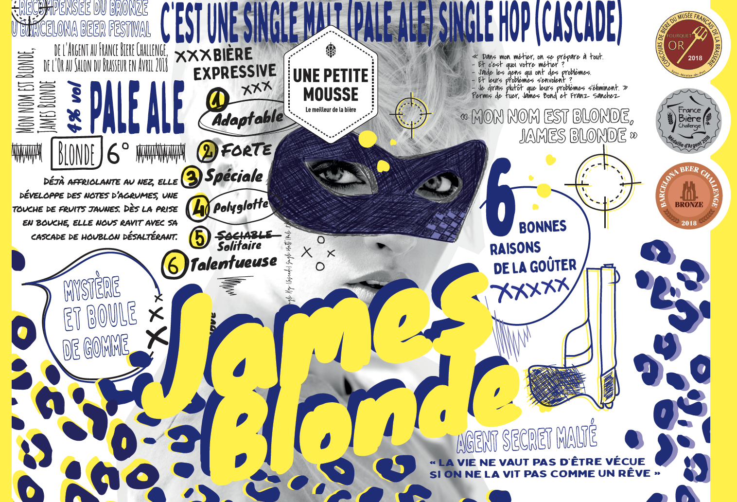 l'étiquette de la James Blonde