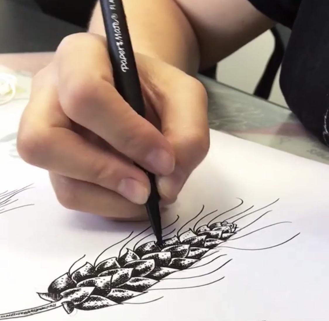 entièrement dessiné à la main !