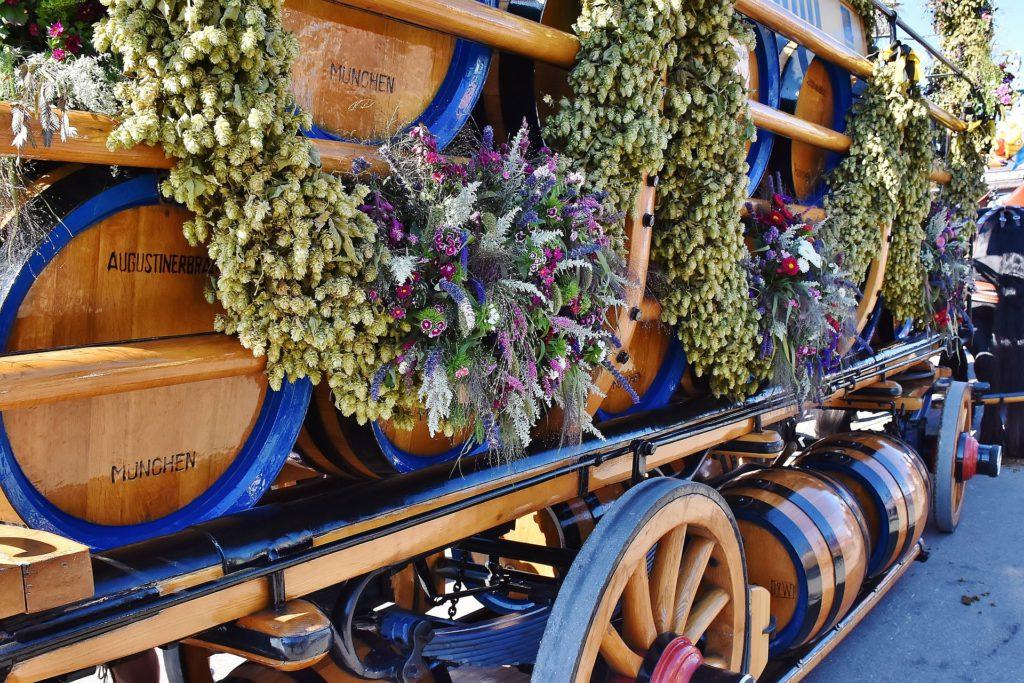 Tonneaux de bière de l'Oktoberfest